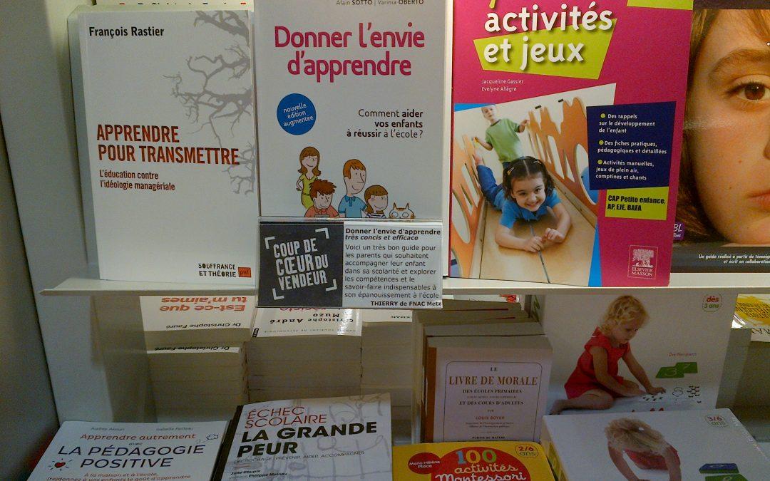 """""""Donner l'envie d'apprendre"""" par Alain Sotto et Varinia Oberto"""
